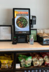 digital kiosk on food counter
