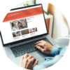 compass digital labs medium blog on laptop